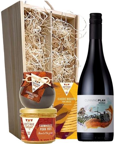 Australian Shiraz Wine & Gourmet Food Gift Box