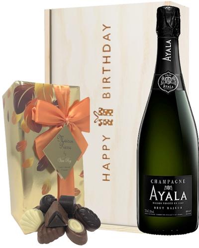 Ayala Champagne and Chocolates Birthday Gift Box