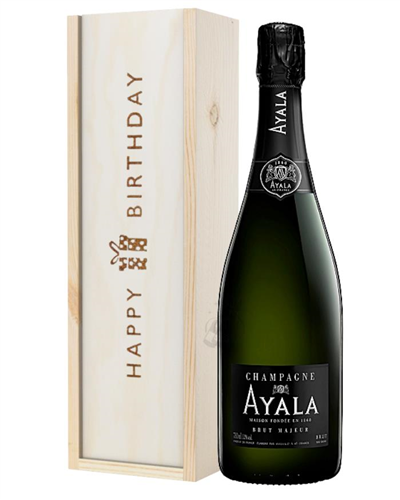 Ayala Champagne Birthday Gift in Wooden Box