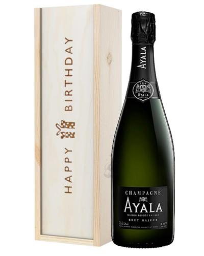 Ayala Champagne Birthday Gift in Wooden Box