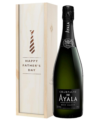 Ayala Champagne Fathers Day Gift In Wooden Box