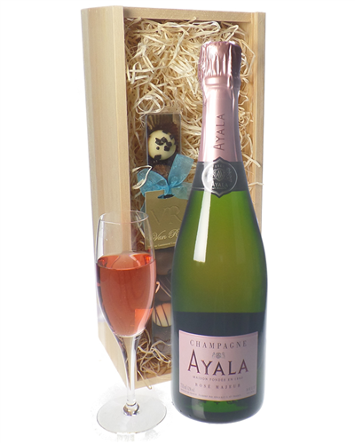 Ayala Rose Champagne and Chocolates Gift Set
