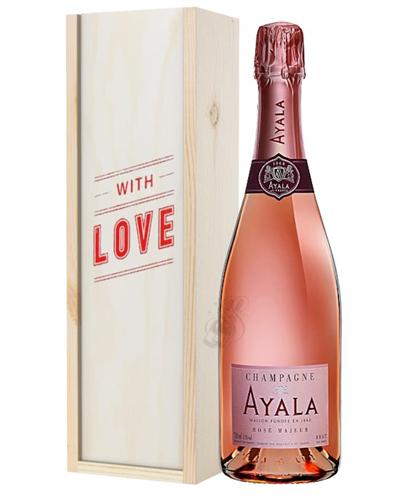 Ayala Rose Champagne Valentines Day Gift