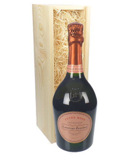 Laurent Perrier Rose Champagne Gift in Wooden Box