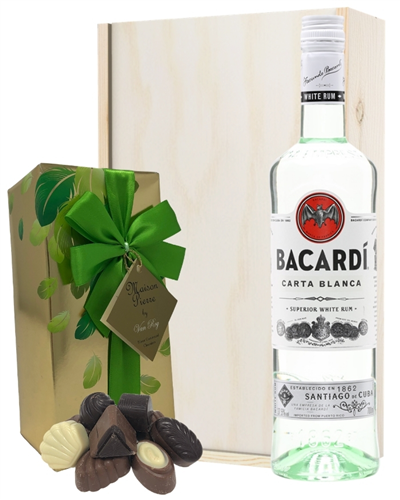 Bacardi Rum And Chocolates Gift Set