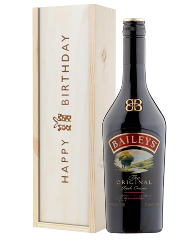 Baileys Original Birthday Gift In Wooden Box
