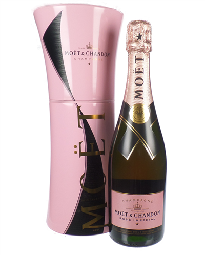 Moet Rose Black Unfurl Gift Box