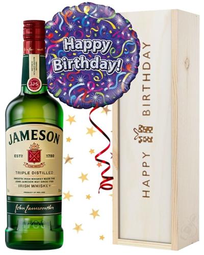 Birthday Irish Whiskey and Balloon Gift