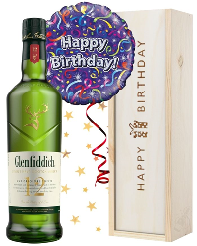 Birthday Single Malt Whisky and Balloon Gift