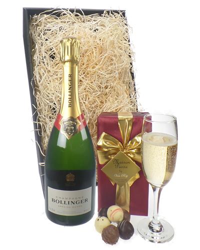 Bollinger Champagne & Belgian Chocolates Gift Box