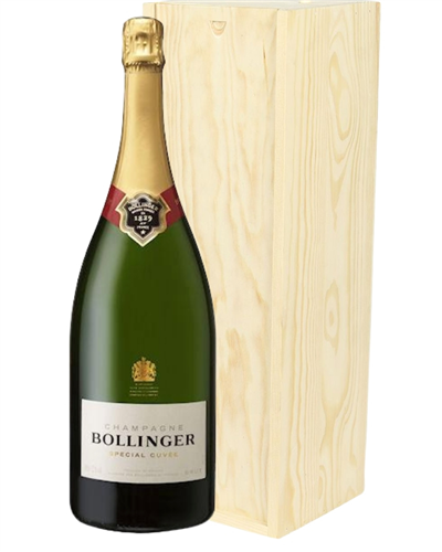 Bollinger Champagne Magnum 150cl in Wooden Gift Box