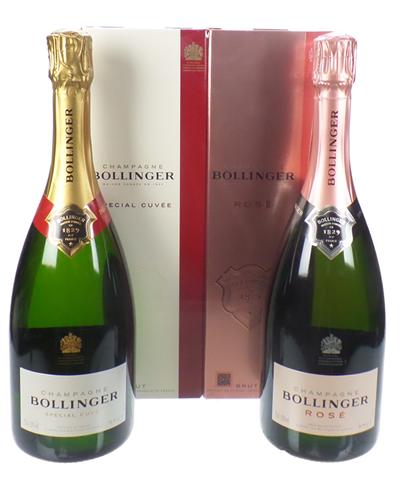 Bollinger Champagne Two Bottle Gift Box Bollinger And Bollinger Rose