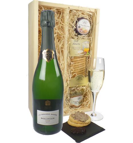 Bollinger Grande Annee Champagne & Gourmet Food Gift Box