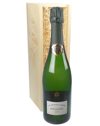 Bollinger Grande Annee Vintage Champagne Gift in Wooden Box