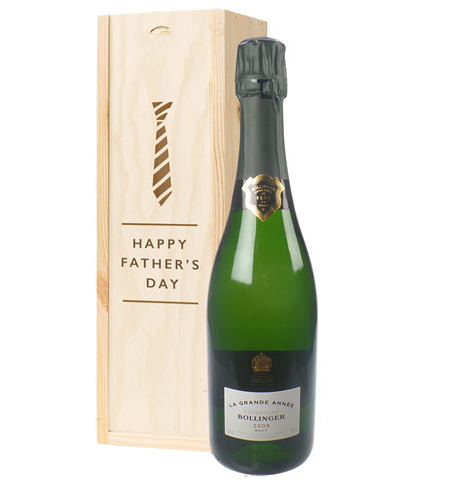 Bollinger Grande Annee Vintage Fathers Day Gift In Wooden Box