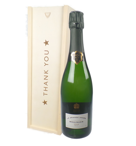 Bollinger Grande Annee Vintage Thank You Gift In Wooden Box