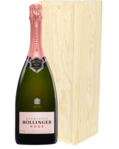Bollinger Rose Champagne Magnum 150cl in Wooden Gift Box