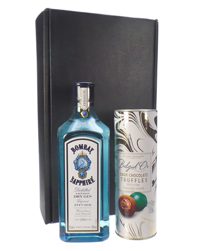 Bombay Sapphire Gin And Gin Chocolate Truffles Gift