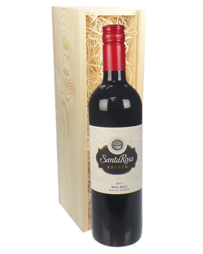 Argentinian malbec red wine gift in wooden box next day for Next day wine gifts