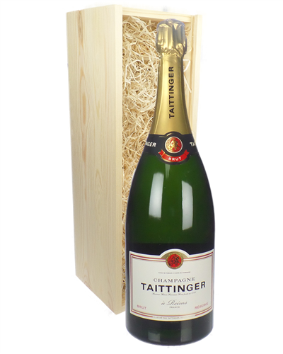 Taittinger Champagne Champagne Magnum 150cl in Wooden Gift Box