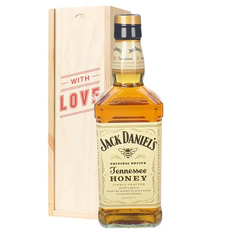 Jack Daniels Honey Whiskey Valentines Day Gift