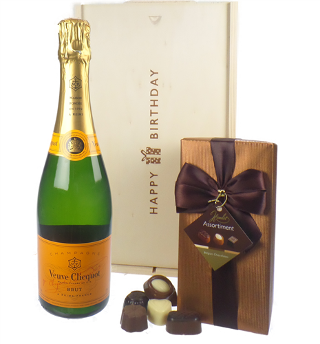 Veuve Clicquot Champagne and Chocolates Birthday Gift Box