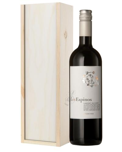 Cabernet Sauvignon Chilean Red Wine Gift in Wooden Box