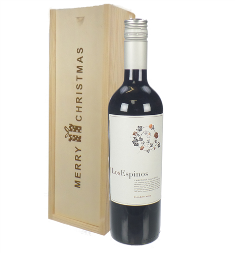 Cabernet Sauvignon Chilean Red Wine Single Bottle Christmas Gift In Wooden Box