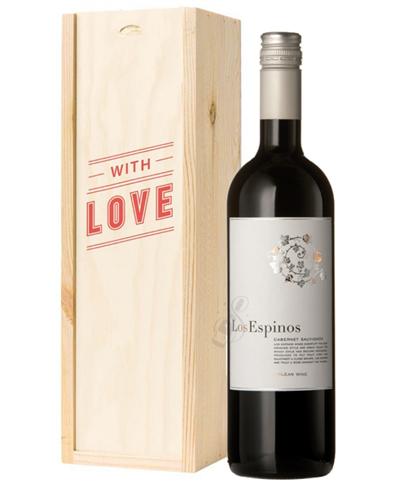 Cabernet Sauvignon Chilean Red Wine Valentines With Love Special Gift Box