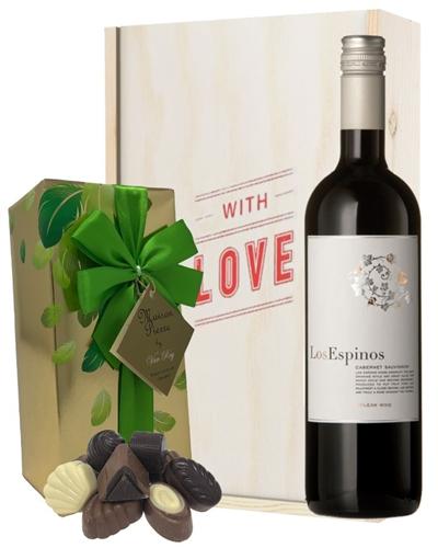 Cabernet Sauvignon Valentines Wine and Chocolates Gift Set