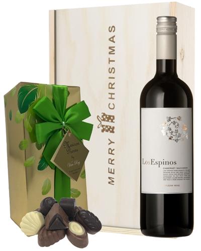 Cabernet Sauvignon Wine and Chocolates Christmas Gift Set