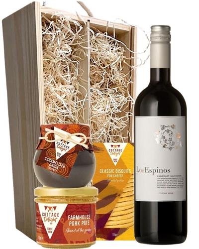 Cabernet Sauvignon Wine & Gourmet Food Gift Box