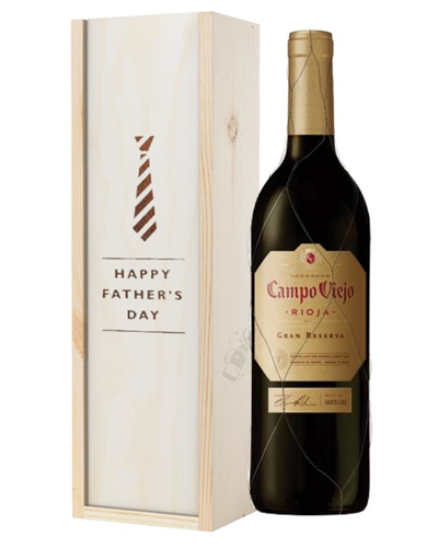 Campo Viejo Gran Reserva Red Wine Fathers Day Gift In Wooden Box
