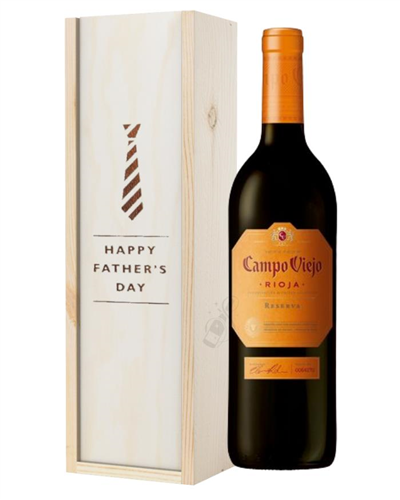 Campo Viejo Reserva Red Wine Fathers Day In Wooden Box