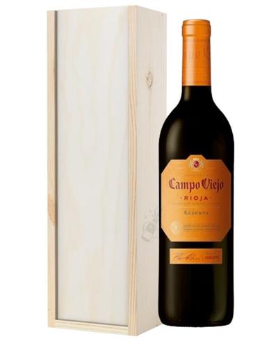 Campo Viejo Reserva Wine Gift in Wooden Box