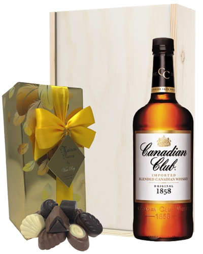 Canadian Club Whisky and Chocolates Gift Set