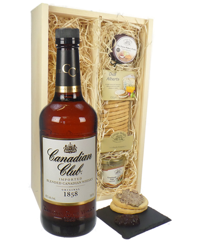 Canadian Club Whisky And Gourmet Food Gift Box
