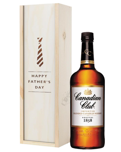 Canadian Club Whisky Fathers Day Gift In Wooden Box