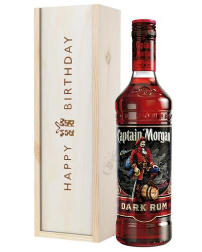 Captain Morgan Rum Birthday Gift In Wooden Box