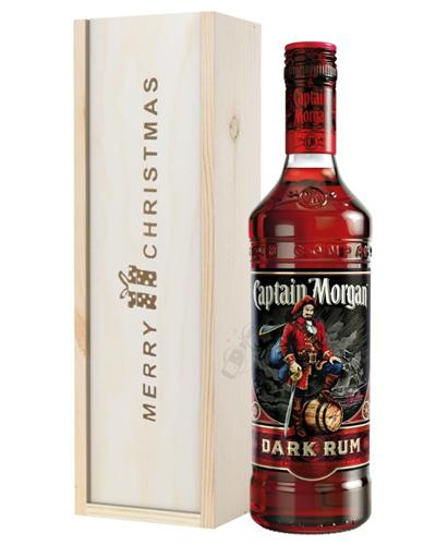 Captain Morgan Rum Christmas Gift In Wooden Box