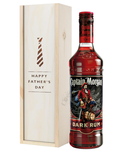 Captain Morgan Rum Fathers Day Gift In Wooden Box