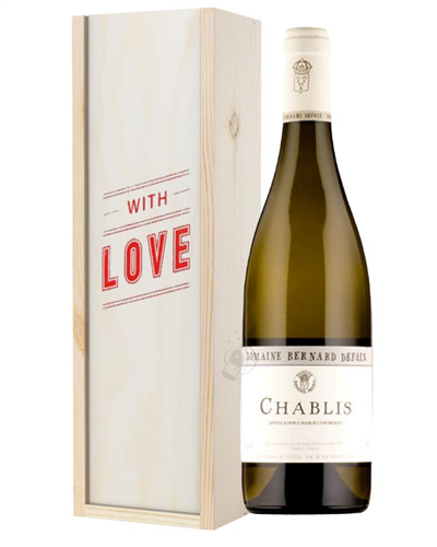 Chablis White Wine Valentines With Love Special Gift Box