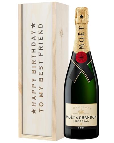 Champagne Birthday Gift For Best Friend