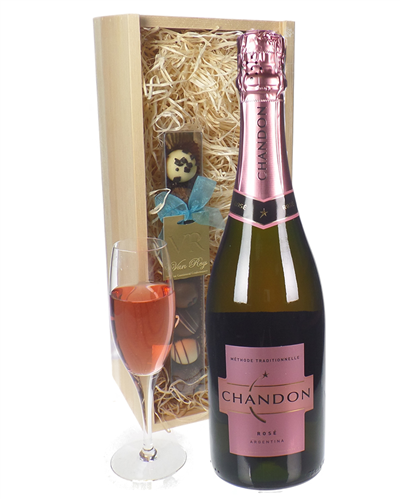 Chandon Rose Sparkling Wine And Chocolates