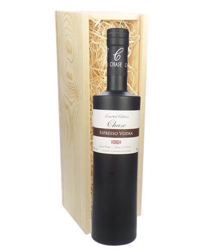 Chase Espresso Vodka In Wooden Gift Box