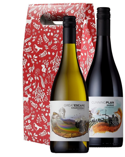 Christmas Australian Mixed Wine Twin Gift