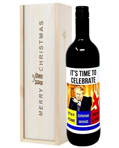 Christmas Lockdown Red Wine Gift