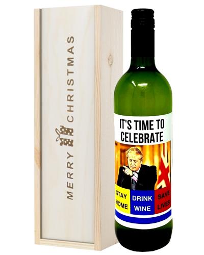 Christmas Lockdown White Wine Gift