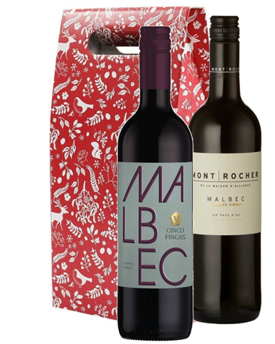 Christmas Malbec Mixed Twin Gift