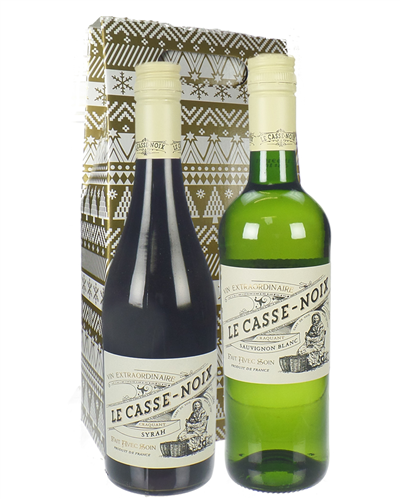 Christmas Mixed French Wine Twin Gift